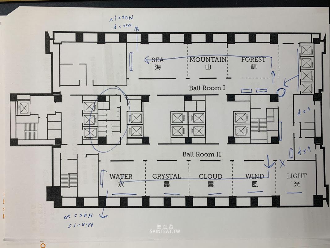 六福萬怡婚宴宴會廳平面圖