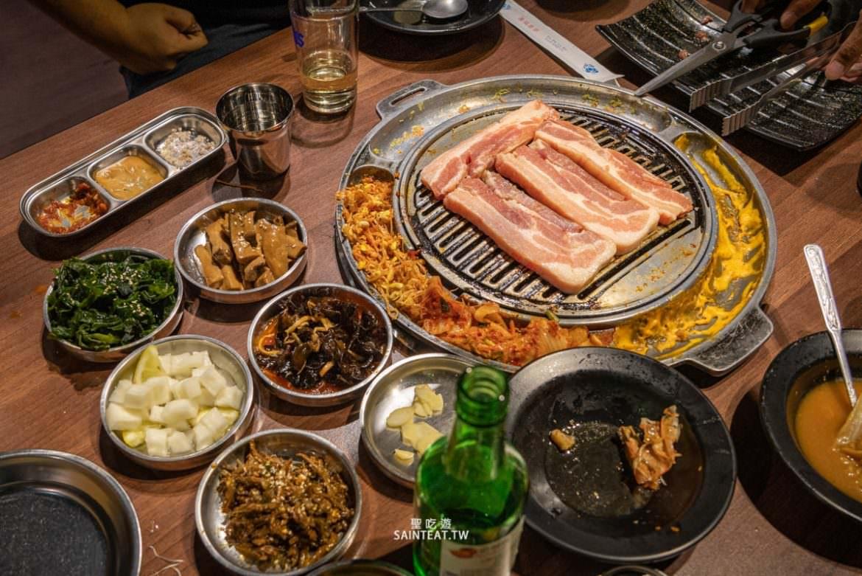 【吃】市政府韓式烤肉店》Woosan|全程桌邊服務,韓式炸雞好吃欸,可以開炸雞專賣店嗎?